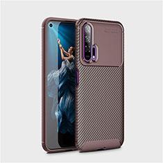 Silikon Hülle Handyhülle Gummi Schutzhülle Tasche Köper Y01 für Huawei Honor 20 Pro Braun