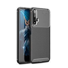 Silikon Hülle Handyhülle Gummi Schutzhülle Tasche Köper Y01 für Huawei Honor 20 Schwarz