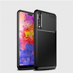 Silikon Hülle Handyhülle Gummi Schutzhülle Tasche Köper Y01 für Huawei P20 Pro Schwarz