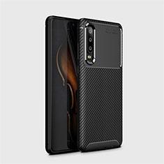 Silikon Hülle Handyhülle Gummi Schutzhülle Tasche Köper Y01 für Huawei P30 Schwarz