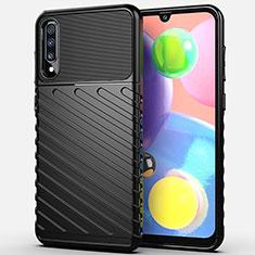 Silikon Hülle Handyhülle Gummi Schutzhülle Tasche Köper Y01 für Samsung Galaxy A70S Schwarz