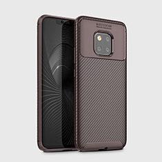Silikon Hülle Handyhülle Gummi Schutzhülle Tasche Köper Y02 für Huawei Mate 20 Pro Braun
