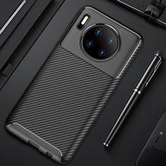 Silikon Hülle Handyhülle Gummi Schutzhülle Tasche Köper Y02 für Huawei Mate 30 Pro 5G Schwarz