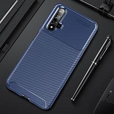 Silikon Hülle Handyhülle Gummi Schutzhülle Tasche Köper Y02 für Huawei Nova 5T Blau