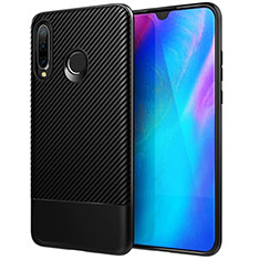 Silikon Hülle Handyhülle Gummi Schutzhülle Tasche Köper Y02 für Huawei P30 Lite Schwarz