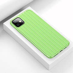 Silikon Hülle Handyhülle Gummi Schutzhülle Tasche Line C01 für Apple iPhone 11 Grün