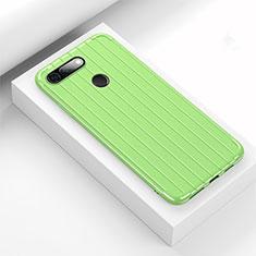 Silikon Hülle Handyhülle Gummi Schutzhülle Tasche Line C01 für Huawei Honor V20 Grün