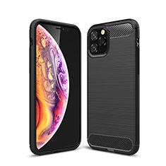 Silikon Hülle Handyhülle Gummi Schutzhülle Tasche Line C02 für Apple iPhone 11 Pro Max Schwarz