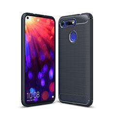 Silikon Hülle Handyhülle Gummi Schutzhülle Tasche Line C02 für Huawei Honor V20 Blau