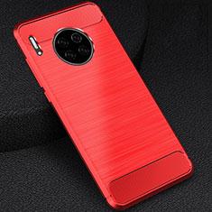 Silikon Hülle Handyhülle Gummi Schutzhülle Tasche Line C02 für Huawei Mate 30 5G Rot