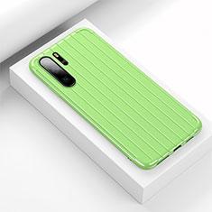 Silikon Hülle Handyhülle Gummi Schutzhülle Tasche Line C02 für Huawei P30 Pro Grün