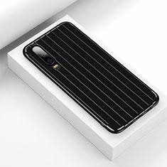 Silikon Hülle Handyhülle Gummi Schutzhülle Tasche Line C02 für Huawei P30 Schwarz