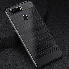 Silikon Hülle Handyhülle Gummi Schutzhülle Tasche Line C03 für Huawei Honor View 20 Schwarz