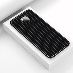 Silikon Hülle Handyhülle Gummi Schutzhülle Tasche Line C03 für Huawei Mate 20 Pro Schwarz