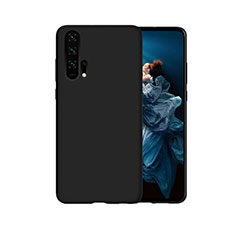 Silikon Hülle Handyhülle Gummi Schutzhülle Tasche Line C07 für Huawei Honor 20 Pro Schwarz