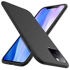 Silikon Hülle Handyhülle Gummi Schutzhülle Tasche Line für Apple iPhone 11 Pro Schwarz
