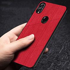 Silikon Hülle Handyhülle Gummi Schutzhülle Tasche Line für Huawei Honor 10 Lite Rot