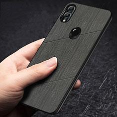 Silikon Hülle Handyhülle Gummi Schutzhülle Tasche Line für Huawei Honor 10 Lite Schwarz