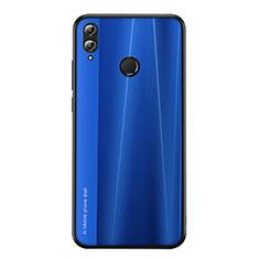 Silikon Hülle Handyhülle Gummi Schutzhülle Tasche Line für Huawei Honor 8X Blau