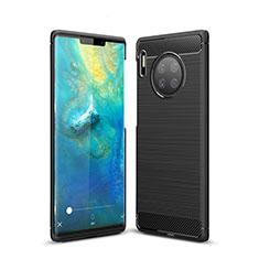 Silikon Hülle Handyhülle Gummi Schutzhülle Tasche Line für Huawei Mate 30 Pro 5G Schwarz