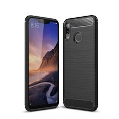 Silikon Hülle Handyhülle Gummi Schutzhülle Tasche Line für Huawei P20 Lite Schwarz