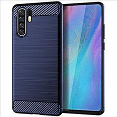 Silikon Hülle Handyhülle Gummi Schutzhülle Tasche Line für Huawei P30 Pro Blau