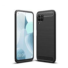 Silikon Hülle Handyhülle Gummi Schutzhülle Tasche Line für Huawei P40 Lite Schwarz