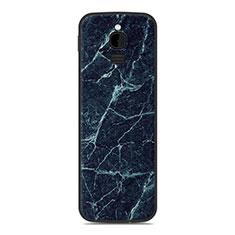 Silikon Hülle Handyhülle Gummi Schutzhülle Tasche Line für Nokia 8110 (2018) Blau