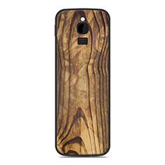 Silikon Hülle Handyhülle Gummi Schutzhülle Tasche Line für Nokia 8110 (2018) Braun