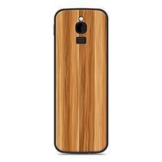 Silikon Hülle Handyhülle Gummi Schutzhülle Tasche Line für Nokia 8110 (2018) Gold