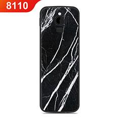 Silikon Hülle Handyhülle Gummi Schutzhülle Tasche Line für Nokia 8110 (2018) Schwarz