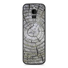 Silikon Hülle Handyhülle Gummi Schutzhülle Tasche Line für Nokia 8110 (2018) Silber
