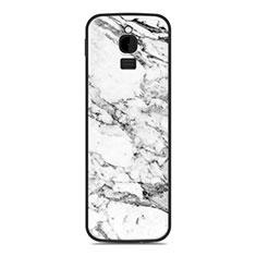 Silikon Hülle Handyhülle Gummi Schutzhülle Tasche Line für Nokia 8110 (2018) Weiß