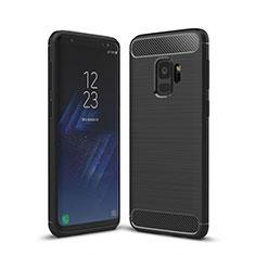 Silikon Hülle Handyhülle Gummi Schutzhülle Tasche Line für Samsung Galaxy S9 Schwarz