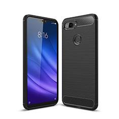 Silikon Hülle Handyhülle Gummi Schutzhülle Tasche Line für Xiaomi Mi 8 Lite Schwarz