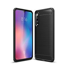 Silikon Hülle Handyhülle Gummi Schutzhülle Tasche Line für Xiaomi Mi 9 Schwarz