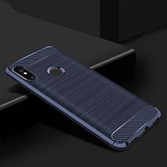 Silikon Hülle Handyhülle Gummi Schutzhülle Tasche Line für Xiaomi Mi A2 Lite Blau