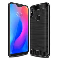 Silikon Hülle Handyhülle Gummi Schutzhülle Tasche Line für Xiaomi Mi A2 Lite Schwarz