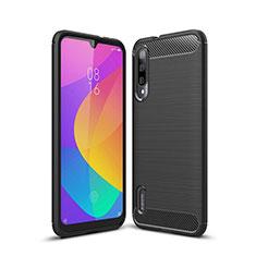 Silikon Hülle Handyhülle Gummi Schutzhülle Tasche Line für Xiaomi Mi A3 Schwarz