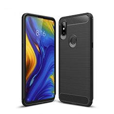 Silikon Hülle Handyhülle Gummi Schutzhülle Tasche Line für Xiaomi Mi Mix 3 Schwarz