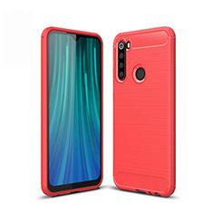 Silikon Hülle Handyhülle Gummi Schutzhülle Tasche Line für Xiaomi Redmi Note 8 Rot