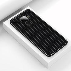 Silikon Hülle Handyhülle Gummi Schutzhülle Tasche Line S03 für Huawei Mate 30 Lite Schwarz