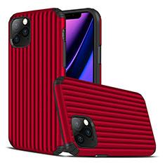 Silikon Hülle Handyhülle Gummi Schutzhülle Tasche Line Z01 für Apple iPhone 11 Pro Rot
