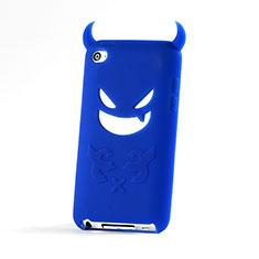 Silikon Hülle Handyhülle Gummi Schutzhülle Teufel für Apple iPod Touch 4 Blau