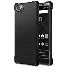 Silikon Hülle Handyhülle Gummi Schutzhülle TPU für Blackberry KEYone Schwarz