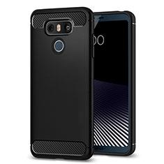 Silikon Hülle Handyhülle Gummi Schutzhülle TPU für LG G6 Schwarz