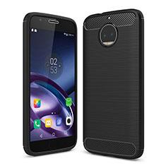 Silikon Hülle Handyhülle Gummi Schutzhülle TPU für Motorola Moto G5S Plus Schwarz