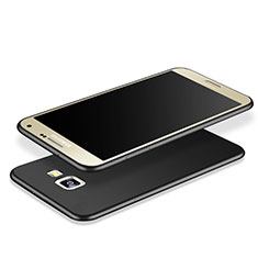 Silikon Hülle Handyhülle Gummi Schutzhülle TPU für Samsung Galaxy J7 Prime Schwarz