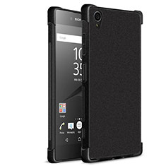 Silikon Hülle Handyhülle Gummi Schutzhülle TPU für Sony Xperia XA1 Plus Schwarz