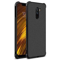 Silikon Hülle Handyhülle Gummi Schutzhülle TPU für Xiaomi Pocophone F1 Schwarz